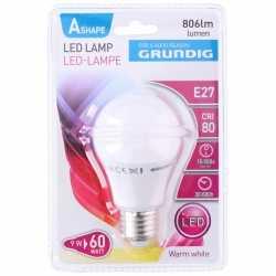 Led lamp 9 watt e27 energie besparend 806 lumen