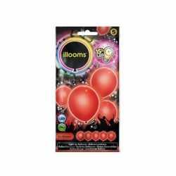 LED licht ballonnen rood 23 5 stuks