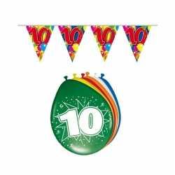Leeftijd feestartikelen 10 jaar setje