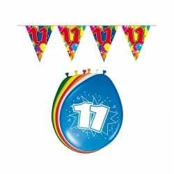 Leeftijd feestartikelen 11 jaar setje