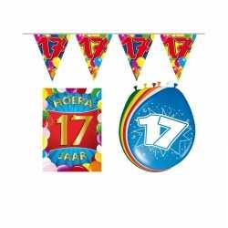 Leeftijd feestartikelen 17 jaar voordeel pakket