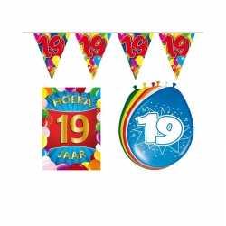 Leeftijd feestartikelen 19 jaar voordeel pakket