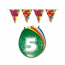 Leeftijd feestartikelen 5 jaar setje