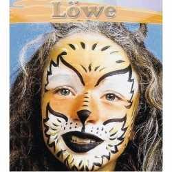 Leeuw schminken schminkset 6 delig