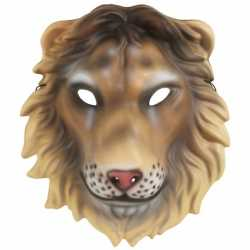 Leeuwen kindermasker plastic