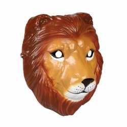 Leeuwen masker 3d plastic 22cm