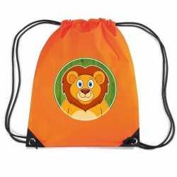 Leeuwen rugtas / gymtas oranje kinderen