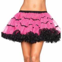 Leg Avenue luxe petticoat fuchsia zwart