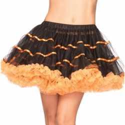 Leg Avenue luxe petticoat zwart oranje
