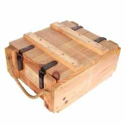 Leger kist van hout 44 bij 35 bij 20