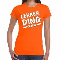 Lekker ding fun t shirt oranje dames