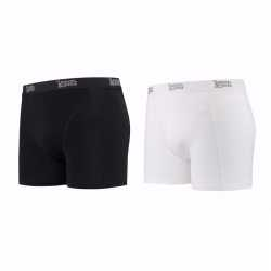 Lemon and soda boxershorts 2 pak zwart wit m