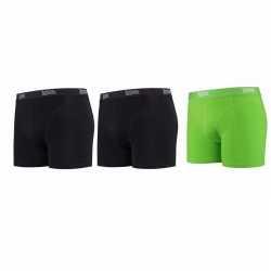 Lemon and soda boxershorts 3 pak zwart groen m
