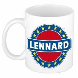 Lennard naam koffie mok / beker 300 ml