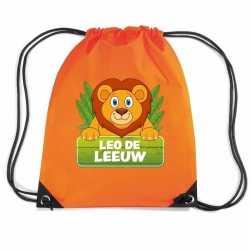 Leo de leeuw rugtas / gymtas oranje kinderen