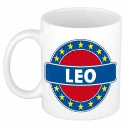 Leo naam koffie mok / beker 300 ml