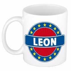 Leon naam koffie mok / beker 300 ml