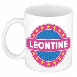 Leontine naam koffie mok / beker 300 ml