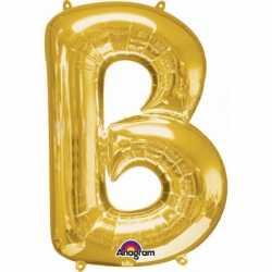 Letter B ballon goud 86