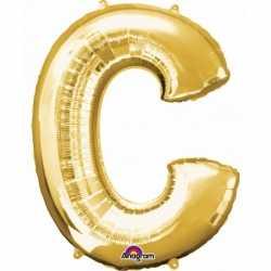 Letter C ballon goud 86