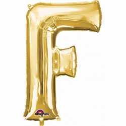Letter F ballon goud 86