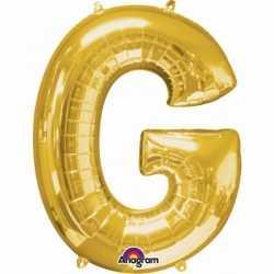 Letter G ballon goud 86