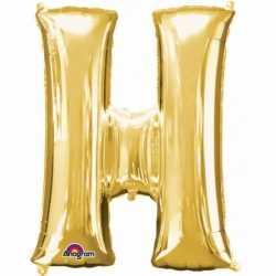 Letter H ballon goud 86