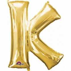 Letter K ballon goud 86