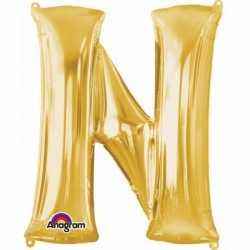 Letter N ballon goud 86