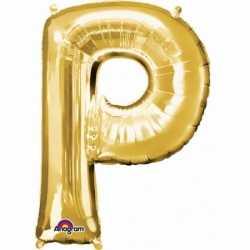 Letter P ballon goud 86