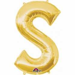 Letter S ballon goud 86