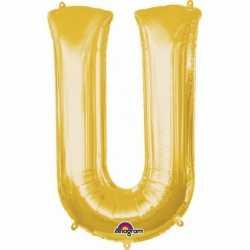 Letter U ballon goud 86