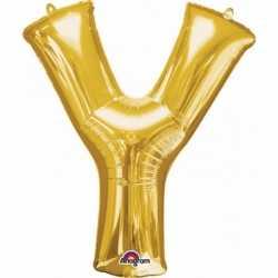 Letter Y ballon goud 86