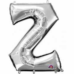 Letter Z ballon zilver 86