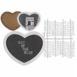Letterbord in hartvorm 17 bij 11