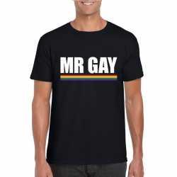 Lgbt shirt zwart mister gay heren