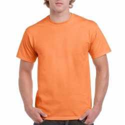 Licht oranje katoenen shirt volwassenen