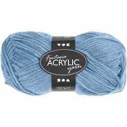 Lichtblauw acryl garen 80 meter
