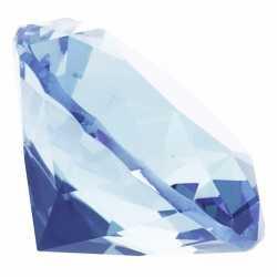 Lichtblauwe nep diamant 4 van glas