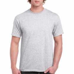 Lichtgrijs katoenen shirt volwassenen