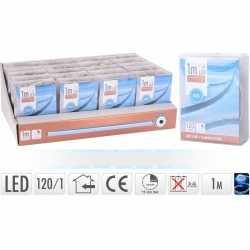 Lichtslang led strip op batterij blauw binnen 1 meter