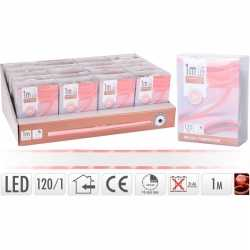 Lichtslang led strip op batterij rood binnen 1 meter