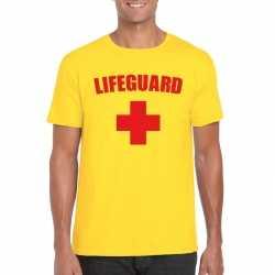 Lifeguard/ strandwacht verkleed shirt geel heren