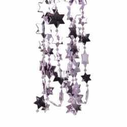 Lila paarse kerstversiering ster kralenslinger 270