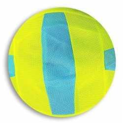 Lime groen/blauw gestreepte mesh speelgoed bal kinderen 23