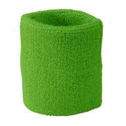 Lime groen zweetbandje de pols