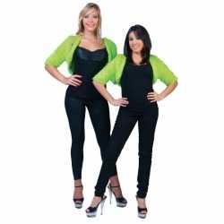 Lime groene bolero bontjasje dames