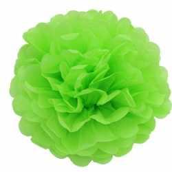 Lime groene decoratie pompom 25