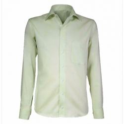 Lime heren overhemd lange mouwen