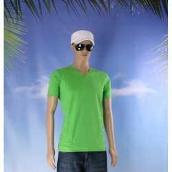 Lime heren t-shirt v-hals